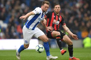 Dale Stephens in action against Bournemouth. Picture by Getty Images