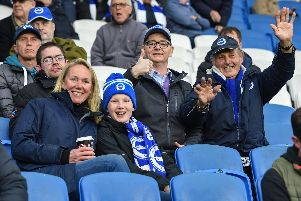 Albion fans pictured before the game