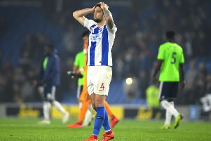 Shane Duffy pictured after the final whistle against Cardiff. Picture by Getty Images