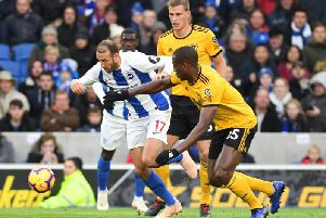 Action from Brighton's win against Wolves earlier this season. Picture by PW Sporting Photography