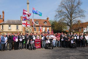 Veterans staged a silent protest against what they feel is unfair prosecution of ex-soldiers from their time in Northern Ireland. EMN-190419-135248001