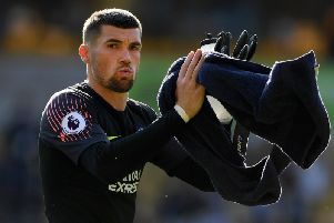 Mathew Ryan applauds the Brighton fans after Saturday's draw at Wolves. Picture by Getty Images