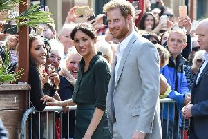 Prince Harry, Duke of Sussex and Meghan, Duchess of Sussex, in Brighton during an official visit to Sussex in October, 2018. (Photo by Tabatha Fireman/Getty Images)