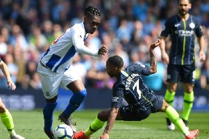 Yves Bissouma in action against Manchester City yesterday. Picture by Getty Images