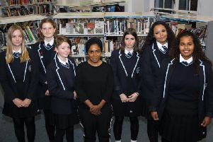 Nadiya Hussain with Hove Park students