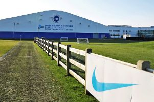 Brighton and Hove Albion Football Club's training ground in Lancing