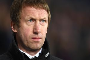 Graham Potter was appointed as Brighton manager on Monday