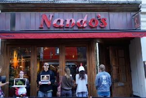 The protest at Nando's Brighton