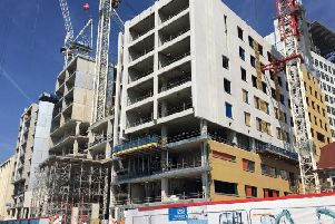 The new building under construction at the Royal Sussex County Hospital site in Brighton