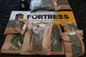 Police discovered a large quantity of drugs at the Brighton property