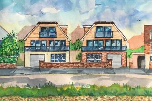 Artist's impression of the new homes