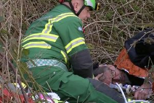 Professional investigator Darryl Cunnington being treated by a medic after being assaulted by two members of the Belvoir Hunt in March 2016 EMN-190813-171024001