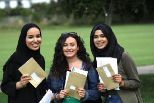 Hove Park School students celebrate their A-level exam results