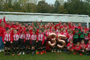 Mowbray Rangers players and coaches last year celebrated the club's 35th anniversary EMN-190815-170503002