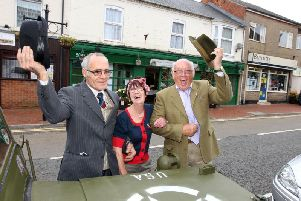 Action from a previous 1940s day in Desborough.