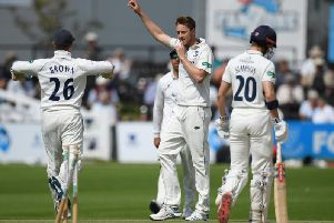 Success for Ben Brown and his Sussex team at home to Middlesex - but the championship season ended in disappointment / Picture: Getty Images