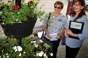 Judges Joyce Slater and Sharon Sutton tour Melton back in July for the East Midlands In Bloom contest EMN-190920-140249001