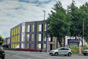 Artist's impression of new building