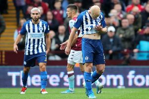 Aaron Mooy is given his marching orders