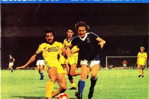 Brighton and Hove Albion's official programme from their match against Norwich City in September 1980