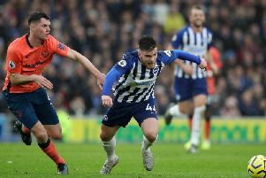 Aaron Connolly played a key role in Brighton and Hove Albion's victory against Everton last week