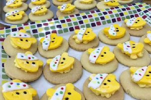 Children in Need - Pudsey biscuits and cakes at Gaddesby Primary School EMN-181120-145329001