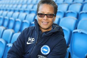 Brighton Women manager Hope Powell targets victory against Birmingham at the Amex on Sunday (Picture: Paul Hazlewood @BHAFC)