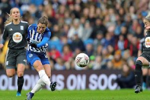 Lea Le Garrec scored Albion's second goal. Picture by Paul Hazlewood @bhafc)