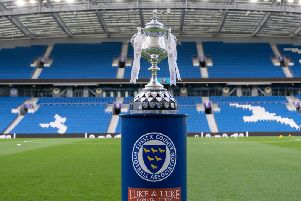 The Sussex Senior Cup at Brighton's Amex Stadium - the venue for the final. Picture by Chris Neal.
