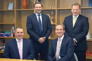 Staff at Savills. Left to right -  Ian Fowler, Jonathan Steele, Ed James and Guy Dixon