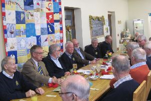 Some of the Rotarians attending the frugal lunch at the Rock Foundation cafe in Caistor