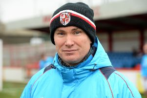 Brackley Town boss Kevin Wilkin saw his side slip up again at St James Park
