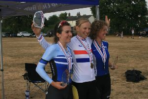 Grass track cycling winners at Fairfield