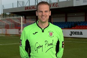Danny Lewis kept his first clean sheet of the season for Brackley Town