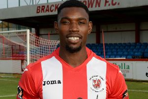 Lee Ndlovu bagged his ninth goal of the season to put Brackley Town on their way to victory over Nuneaton Borough