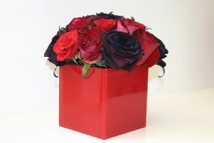 Library image of a Valentine's Day floral arrangement