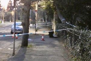 The scene of the incident