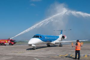 The Flybmi service from Stanstead to City of Derry Airport operated from May 2017 to February 2019. Picture Martin McKeown. Inpresspics.com. 02.05.17