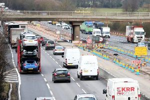 The M1 Smart motorway works between junctions 16 and 13 have been criticised for being too dangerous. Editorial image only.