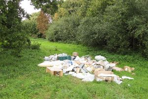 Library image of dumped waste in Buckinghamshire