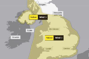 Strong gusts of wind will spread across much of the UK this week