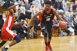 Storm's TrayVonn Wright  led all scorers with 38 points in Hemel's victory over Reading Rockets on Sunday. (File picture by Lin Titmuss)