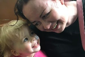 Julie Pugh with her daughter Maisie