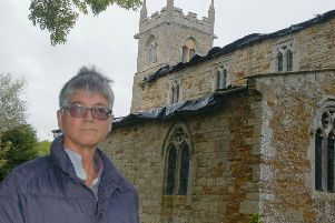 PCC member Julia Hawley at Wyfordby Church, where a Heritage Open Day will be held on Easter Monday EMN-190417-110054001