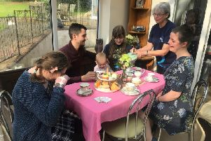 The tea party organised by Sabrina Jayne-Harper raised just over 300 for the Alzheimer's Society