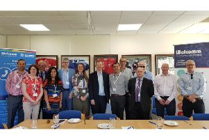 Neil O'Brien MP with attending businesses