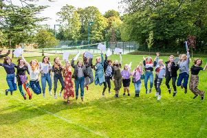 Burgess Hill Girls celebrate excellent A level results.