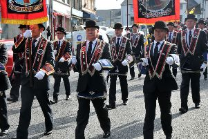 Members of Magherafelt Royal Black Preceptory step out for the Last Saturday.INMM3615-362
