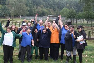 Service users celebrate the fantastic news!