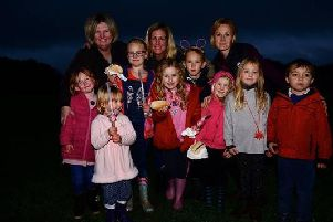 Pupils at Finmere Church of England Primary School enjoy a fireworks display partly funded by housebuilders Barrett and David Wilson North Thames